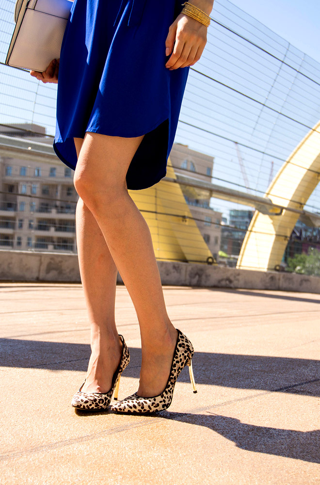 Cobalt Blue and Leopard Shoes